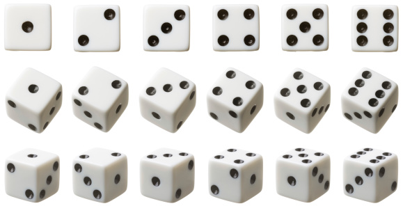 Leisure Games「3 rows of white dice each set at different angles」:スマホ壁紙(10)