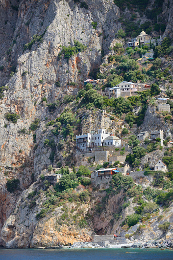 Mt Athos Monastic Republic「Greece, Chalkidiki, Mount Athos, World Heritage site, Hermitages of Karoulia」:スマホ壁紙(3)