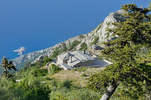 Mt Athos Monastic Republic「Greece, Chalkidiki, Mount Athos, World Heritage site, Panaghia chapel and mountain refuge」:スマホ壁紙(15)