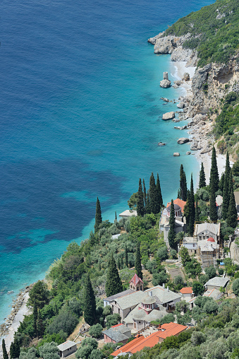 Mt Athos Monastic Republic「Greece, Chalkidiki, Mount Athos, World Heritage site, Nea Skiti monastic settlement」:スマホ壁紙(2)