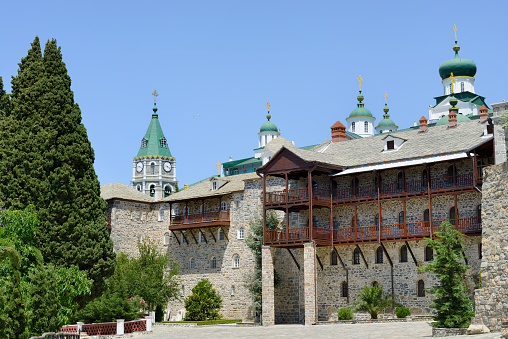 Mt Athos Monastic Republic「Greece, Chalkidiki, Mount Athos peninsula, listed as World Heritage, Russian monastery」:スマホ壁紙(16)