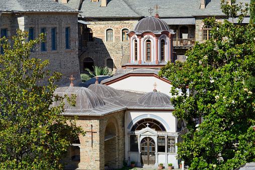 Mt Athos Monastic Republic「Greece, Chalkidiki, Mount Athos peninsula, listed as World Heritage, Iviron monastery」:スマホ壁紙(14)