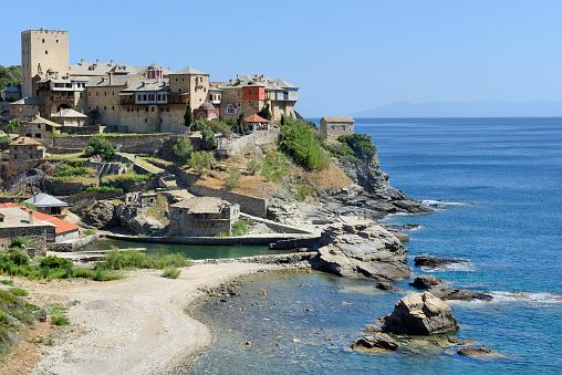 Mt Athos Monastic Republic「Greece, Chalkidiki, Mount Athos peninsula, listed as World Heritage, Pantokrator monastery」:スマホ壁紙(16)