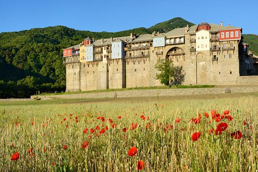 Mt Athos Monastic Republic「Greece, Chalkidiki, Mount Athos peninsula, listed as World Heritage, Iviron monastery」:スマホ壁紙(15)