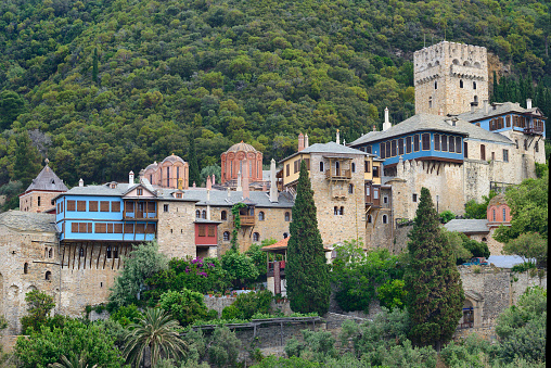 Mt Athos Monastic Republic「Greece, Chalkidiki, Mount Athos peninsula, listed as World Heritage, Dochiariou monastery」:スマホ壁紙(18)