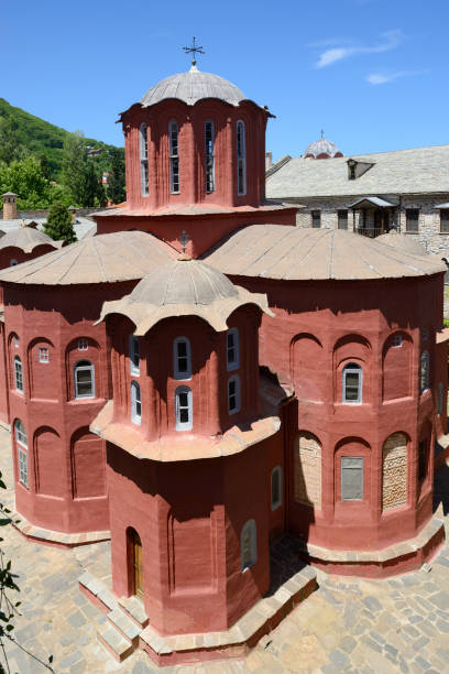 Greece, Chalkidiki, Mount Athos peninsula, listed as World Heritage, Koutloumousiou monastery:スマホ壁紙(壁紙.com)