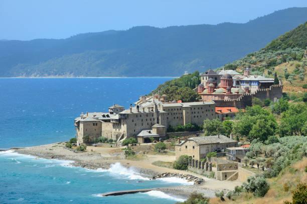 Greece, Chalkidiki, Mount Athos peninsula, listed as World Heritage, Xenophontos monastery:スマホ壁紙(壁紙.com)
