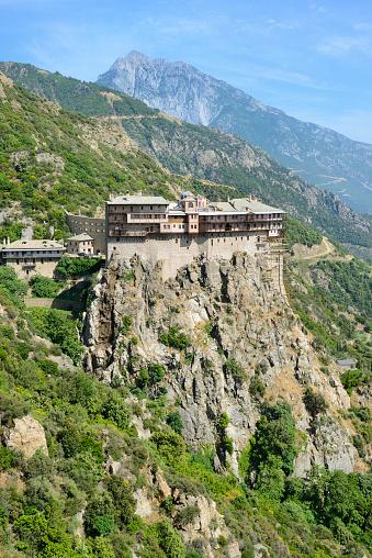 Mt Athos Monastic Republic「Greece, Chalkidiki, Mount Athos peninsula, listed as World Heritage, Simonos Petra monastery」:スマホ壁紙(8)