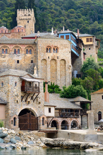 Greece, Chalkidiki, Mount Athos peninsula, listed as World Heritage, Dochiariou monastery:スマホ壁紙(壁紙.com)