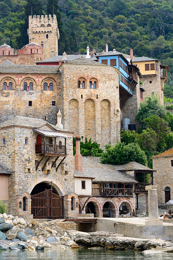 Mt Athos Monastic Republic「Greece, Chalkidiki, Mount Athos peninsula, listed as World Heritage, Dochiariou monastery」:スマホ壁紙(14)