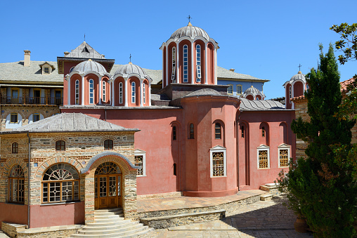 Mt Athos Monastic Republic「Greece, Chalkidiki, Mount Athos peninsula, listed as World Heritage, Pantokratoros monastery」:スマホ壁紙(6)
