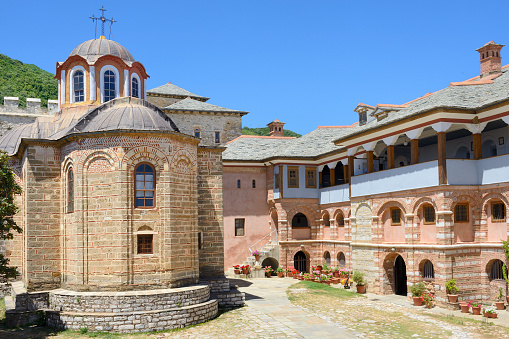 Mt Athos Monastic Republic「Greece, Chalkidiki, Mount Athos peninsula, World Heritage Site, Great Lavra (Megistis Lavras) monastery」:スマホ壁紙(4)