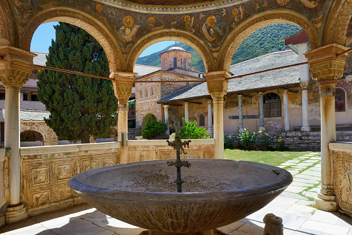 Mt Athos Monastic Republic「Greece, Chalkidiki, Mount Athos peninsula, World Heritage Site, Great Lavra (Megistis Lavras) monastery」:スマホ壁紙(11)