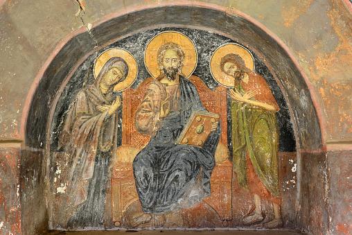 Mt Athos Monastic Republic「Greece, Chalkidiki, Mount Athos peninsula, World Heritage Site, Great Lavra (Megistis Lavras) monastery」:スマホ壁紙(2)