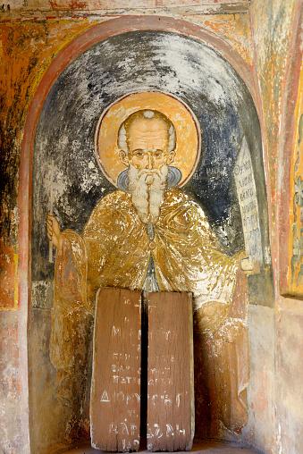 Mt Athos Monastic Republic「Greece, Chalkidiki, Mount Athos peninsula, World Heritage Site, Great Lavra (Megistis Lavras) monastery」:スマホ壁紙(1)