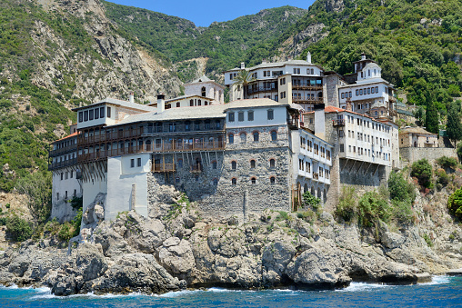 Mt Athos Monastic Republic「Greece, Chalkidiki, Mount Athos peninsula, World Heritage Site, Grigoriou monastery」:スマホ壁紙(8)
