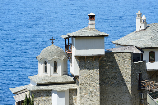 Mt Athos Monastic Republic「Greece, Chalkidiki, Mount Athos peninsula, World Heritage Site, Grigoriou monastery」:スマホ壁紙(13)