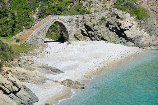 Mt Athos Monastic Republic「Greece, Chalkidiki, Mount Athos peninsula, World Heritage Site, Vela bridge」:スマホ壁紙(5)