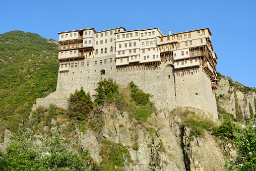 Mt Athos Monastic Republic「Greece, Chalkidiki, Mount Athos peninsula, World Heritage Site, Dionysiou monastery」:スマホ壁紙(14)