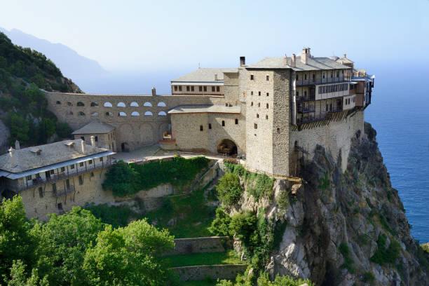 Greece, Chalkidiki, Mount Athos, listed as World Heritage, Simonos Petra monastery:スマホ壁紙(壁紙.com)