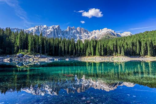 Tyrol State - Austria「Dolomites - lake carezza - Karersee, Trentino-Alto Adige, Italy」:スマホ壁紙(17)