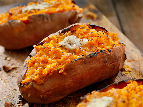 Roasted「Twice Baked, Stuffed Sweet Potatoes with Melting Butter and Cracked Pepper」:スマホ壁紙(4)