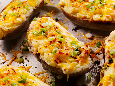 Side Dish「Twice Baked, Stuffed Potatoes with Cheese and Bacon」:スマホ壁紙(6)