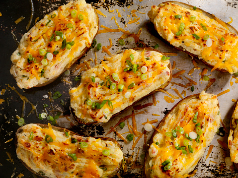 Baked Potato「Twice Baked, Stuffed Potatoes with Cheese and Bacon」:スマホ壁紙(12)