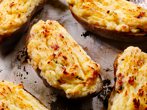 Baked Potato「Twice Baked, Stuffed Potatoes with Cheese and Bacon」:スマホ壁紙(9)