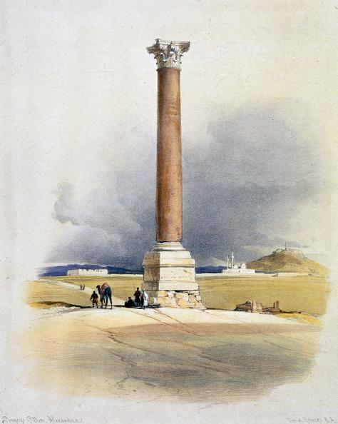 Architectural Column「Pompey's Pillar Alexandria Egypt 19th Century」:写真・画像(3)[壁紙.com]