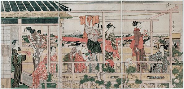 Edo Period「Drying Clothes, c」:写真・画像(12)[壁紙.com]