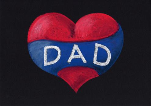 父の日「Love 心臓の父」:スマホ壁紙(3)