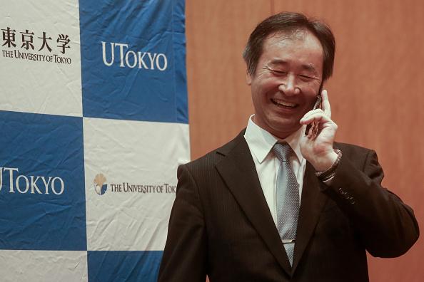 Conference Phone「Takaaki Kajita, Nobel Physics Prize Winner Holds Press Conference In Tokyo」:写真・画像(12)[壁紙.com]