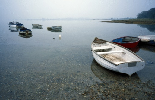 Shallow「Rowboats in bay」:スマホ壁紙(0)