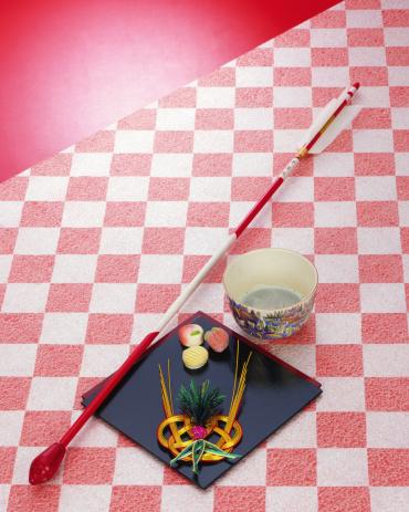 Wagashi「Japanese green tea and arrow」:スマホ壁紙(0)