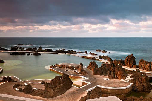 Volcanic Landscape「Natural pool, Porto Moniz, Madeira, Portugal」:スマホ壁紙(14)
