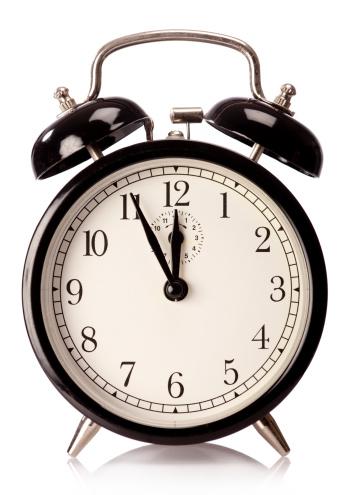 Clock「目覚まし時計付きの白背景」:スマホ壁紙(15)