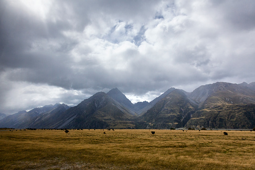 Mt Cook「Mount Cook Range of the Southern Alps in New Zealand」:スマホ壁紙(13)