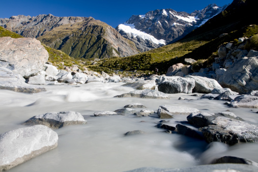 Mt Cook「Mount Cook leadning to mount Aoraki, Cook National Park, South Island, New Zealand」:スマホ壁紙(4)