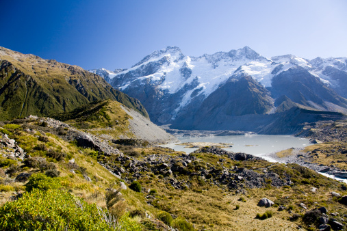 Mt Cook「Mount Cook leadning to mount Aoraki, Cook National Park, South Island, New Zealand」:スマホ壁紙(3)
