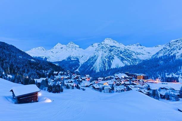 Winter ski resort Arosa, Switzerland:スマホ壁紙(壁紙.com)