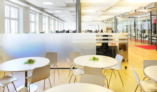 Staircase「Cafe area in modern brand new open space office」:スマホ壁紙(19)
