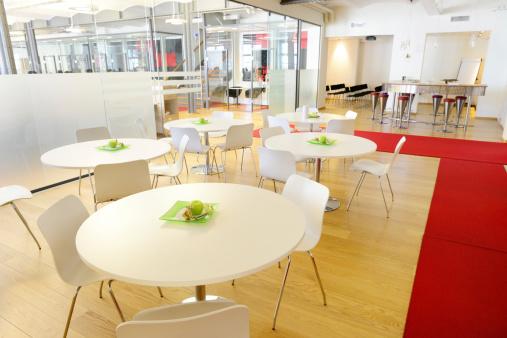 宇宙「カフェ」のモダンな新しいオープンスペースのオフィス」:スマホ壁紙(3)
