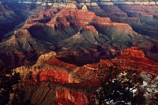 自然地理学「Grand Canyon at twilight, Arizona, America, USA」:スマホ壁紙(16)