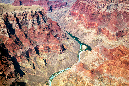Colorado River「Grand Canyon, Colorado River, Aerial View, Arizona, USA」:スマホ壁紙(15)