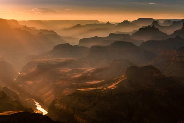 Grand Canyon south rim, Colorado River at sunset – Arizona, USA:スマホ壁紙(壁紙.com)