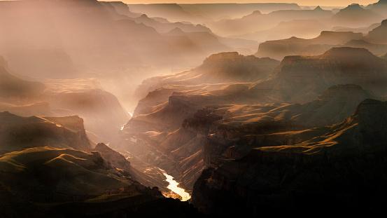 Valley「Grand Canyon south rim above Colorado River at sunset – Arizona, USA」:スマホ壁紙(6)