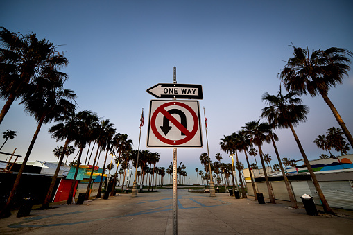 マイアミビーチ「Road sign on Venice Beach」:スマホ壁紙(16)