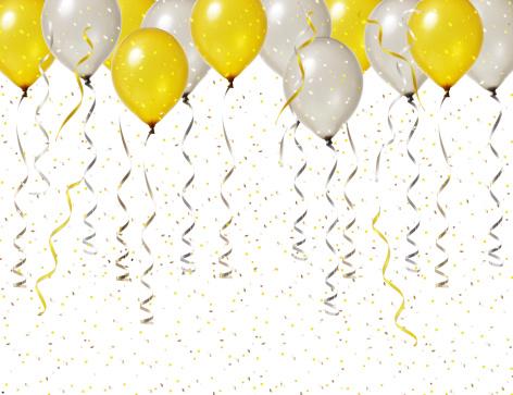 Celebration「シルバーとゴールドのパーティーのお祝い」:スマホ壁紙(1)