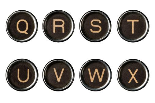 Letter S「Type writer keys alphabet with clipping paths」:スマホ壁紙(15)